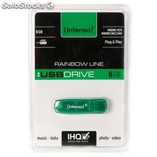 Memoria usb - pendrive 8 GB intenso Rainbow Line 8GB usb Drive