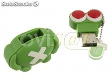 Memoria usb pendrive Mooster de 16 GB diseño monstruo verde enamorado monster in