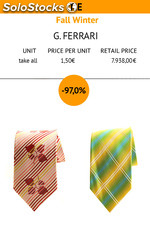 Men's TIES made in Italy, italian brand G. Ferrari