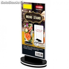 Menu stand giratorio recto 10x20 cm transparente ps