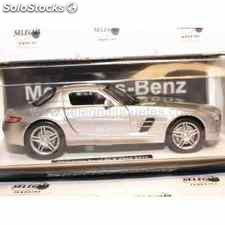 Mercedes benz sls amg 2010 gris escala 1/24 new ray coche escala