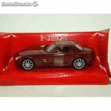 Mercedes benz sls amg rojo escala 1/34 a 1/39 welly coche metal