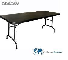 Mesa Banquete Catering Negra 1,80m