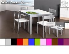 Mesa cocina LOW 7100 cristal color