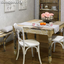✅ mesa comedor 120X100X77 cm - coleccin poetic by craftenwood