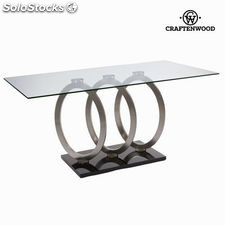 Mesa comedor circles acero by Craftenwood