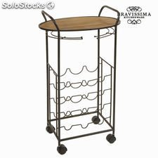 Mesa con botellero de metal by Bravissima Kitchen