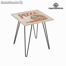 Mesa cuadrada pizza beige by Craftenwood