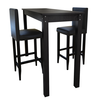 Mesa De Bar Con Set De 2 Sillas De Bar Negro