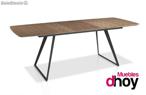 Mesa de comedor extensible 230 cm sutil dise o industrial for Diseno industrial mesa