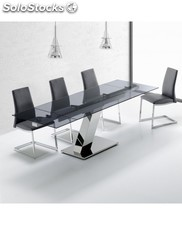 Mesa de comedor extensible de cristal java center