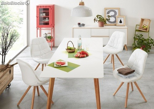 Mesa de comedor nordica extensible norway 90x160 200 for Mesa comedor nordica