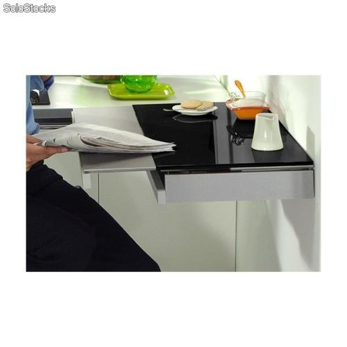 Mesa de pared para cocina single duo, con cajón cubertero y ala ...