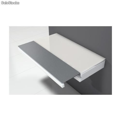 Mesa de pared para cocina single duo, en un bonito acabado blanco.