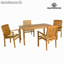 Mesa de teca con 4 sillones by Craftenwood