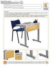 Mesa escolar plegable