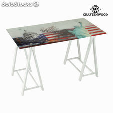 Mesa escritorio cristal usa by Craftenwood