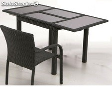 Mesa extensible rattan chocolate Haiti 152-210
