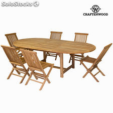 Mesa extensible y 6 sillas by Craftenwood