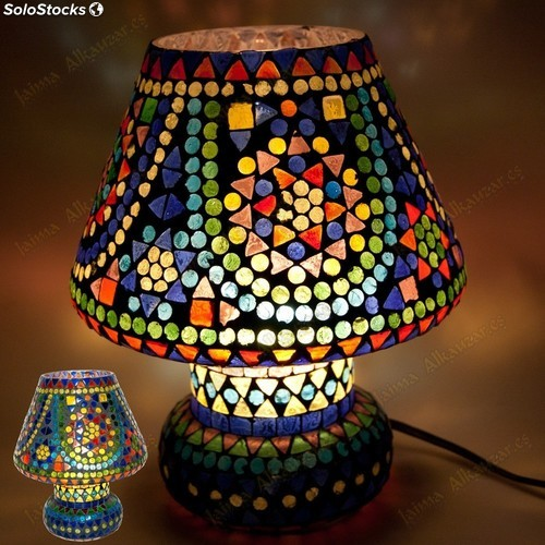 Mesa Multi Color Mosaik Lampe Design Mushroom Installation