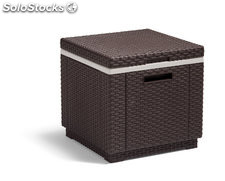 Mesa nevera ice cube marron 42X42X41CM