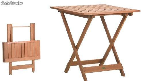 Mesa plegable de madera joker al por mayor for Mesas de terraza plegables