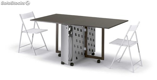 Mesa plegable ginger wengue - Mesa plegable de comedor ...