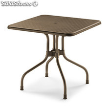Mesa plegable Olimpo 80 x 80cm color bronce