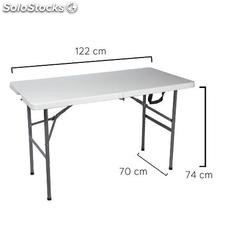 Mesa plegable rectangular 122x60x74cm