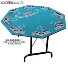Mesa Poker Patas Plegable
