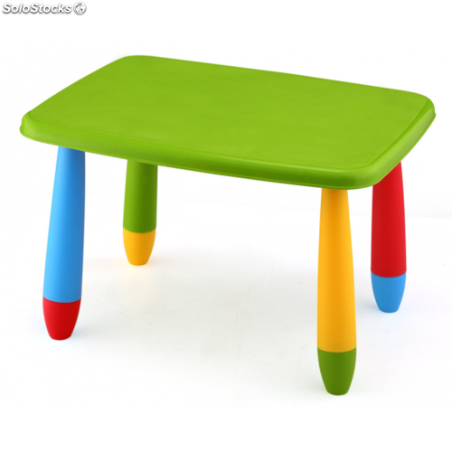 Mesa Rectangular Colores Infantil verde