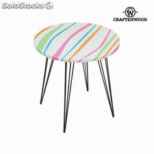 Mesa redonda rayas colores by Craftenwood