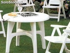 Mesa resina jardin Boss Contract 95 blanco