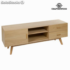 Mesa tv roble 2 cajones - Colección Modern by Craftenwood