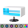 Mesita para TV color blanco brillante con luces LED, 80 cm