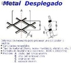 Metal desplegado gp 60 x 3 mm formato 1000 x 2000 mm