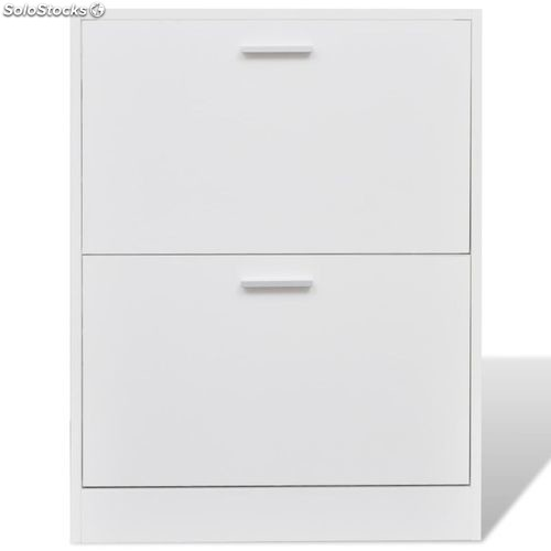 meuble chaussures meuble chaussures en bois 2 abattants blanc produits france. Black Bedroom Furniture Sets. Home Design Ideas
