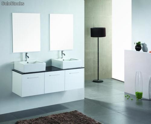 meuble salle de bain cublanc rangement 1400mm. Black Bedroom Furniture Sets. Home Design Ideas