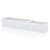 Meuble TV extensible blanc brillant 240 cm