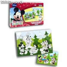 Mickey Mouse Coloriage Puzzle