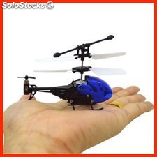 Micro helicoptero blue 9 cm LH1311- 3.5 Channels - infrared increible helicopter