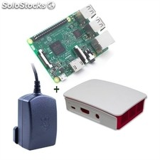 Micro pc raspberry Pi 3 type b Cortex A53 1GB 4xUSB hdmi + caja + fuente 5.1V