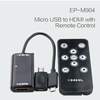 Micro-USB a HDMI con control remoto cable MHL para Galaxy/iphone/ipad
