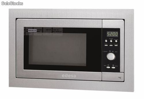 Microondas integrable inox edesa metal m23gex 800w 23 for Microondas integrable