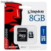MicroSD 8gb KIngston con adaptador