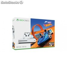 Microsoft - Xbox One S Forza Horizon 3 Hot Wheels Bundle 500GB 500GB Wifi Blanco