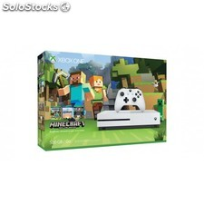 Microsoft - Xbox One S Minecraft Favorites Bundle (500 GB) 500GB Wifi Blanco