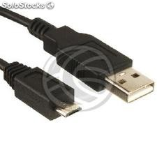 MicroUSB Cable usb 2.0 a male black 20cm (UR51)