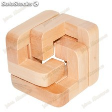 Middle game cube - holz - wit - puzzle - 6 x 6 cm