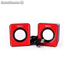Mini Altavoces approx! MAUA200161 APPSPX1R 2.0 5W rms Rojo pc